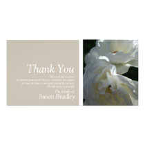 White Roses 3 Sympathy Thank You matching Stamp Card