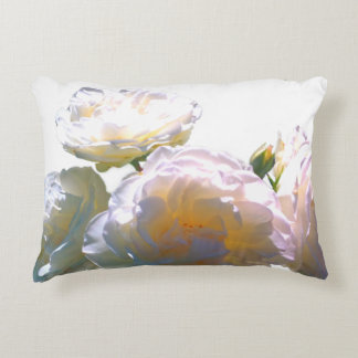 White roses accent pillow