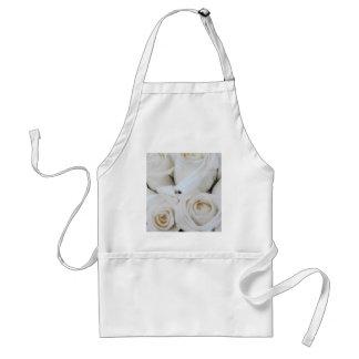 White Roses Adult Apron