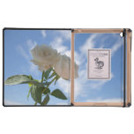 White Roses against Blue Sky iPad Cover