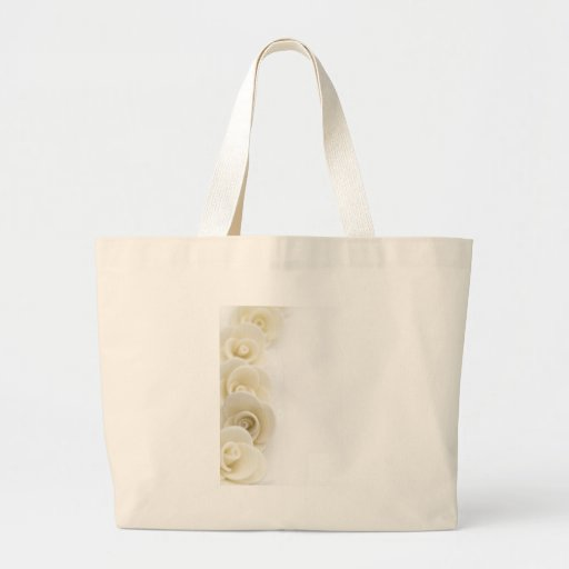 white roses background tote bag