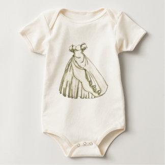 White Roses Bride Baby Bodysuit