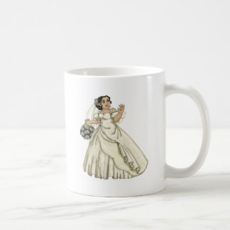 White Roses Bride Coffee Mug