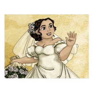 White Roses Bride Postcard