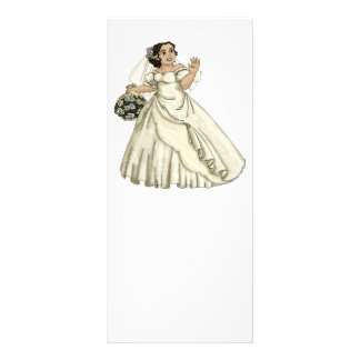 White Roses Bride Rack Card