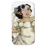 White Roses Bride Samsung Galaxy S4 Cover