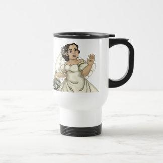 White Roses Bride Travel Mug