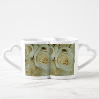 White roses by Therosegarden Coffee Mug Set