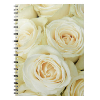 White roses by Therosegarden Notebook