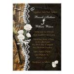 White Roses & Camo Invitation
