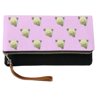 White Roses Clutch