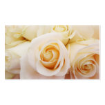 White Roses Floral Bridal Pure Double-Sided Standard Business Cards (Pack Of 100)