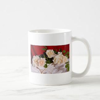 White roses  flowers classic white coffee mug