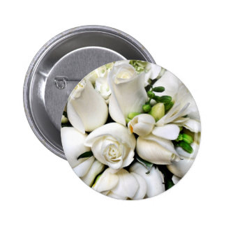 White Roses,for any occasion_ Pinback Buttons