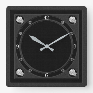 White Roses Gothic Wall Clock