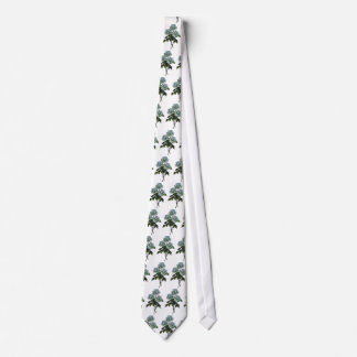 White Roses, Hand Drawn in Color Pencil Neck Tie