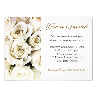 White Roses Invitations