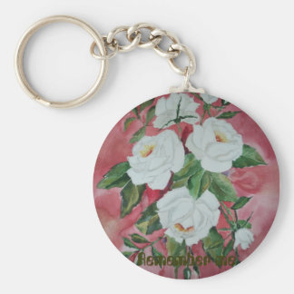 White roses Keychain