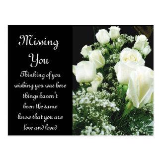 White Roses,Love_ Postcard