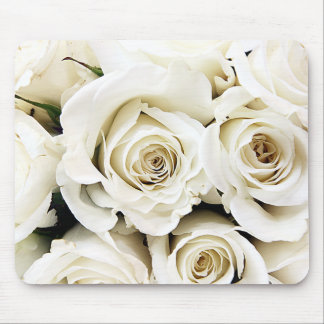 White Roses Mousepad