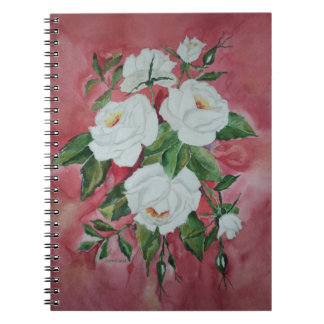 White roses note book