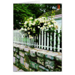 White Roses on a Picket Fence Card