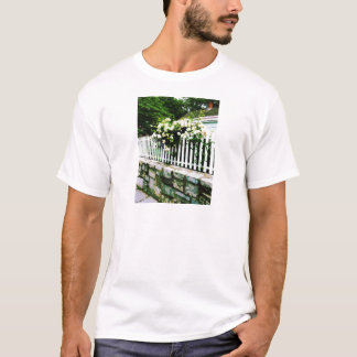White Roses on a Picket Fence T-Shirt