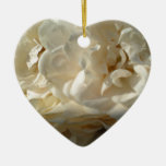 White Roses Painting Christmas Ornaments