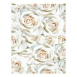 White Roses Personalized Letterhead