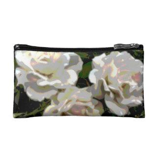 White Roses photo Makeup Bag