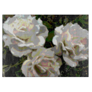 White Roses Photograph Cutting Board