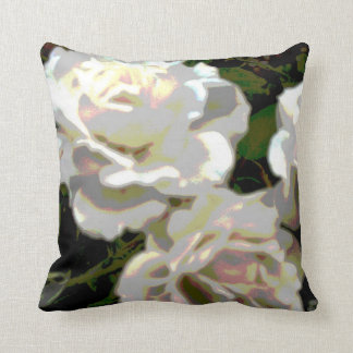 White Roses Photograph Pillow