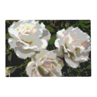 White Roses Photograph Placemat