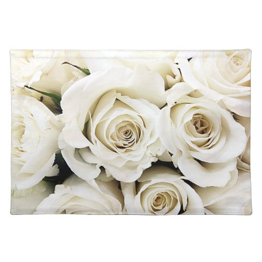 White Roses Placemat