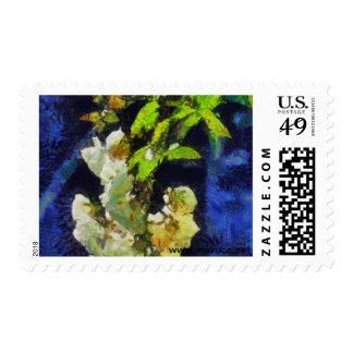 White Roses Postage Stamp
