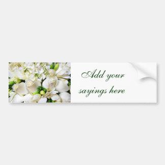 White Roses,Roses of Love_ Bumper Sticker