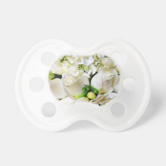 White Roses Roses of Love_ Baby Pacifiers