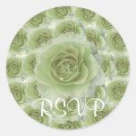 White Roses RSVP Sticker