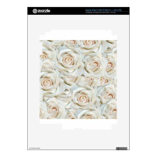 White Roses Skin For iPad 3