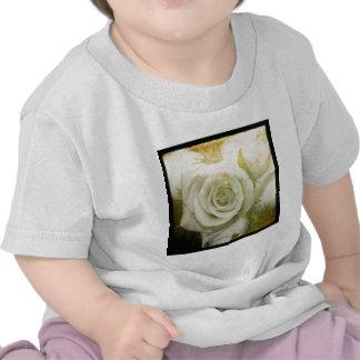 White Roses Squared T Shirts