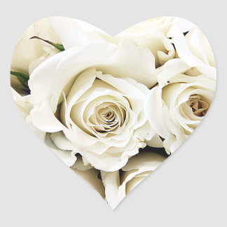 White Roses Stickers