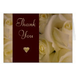 White Roses Thank You Card