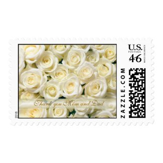 White roses thank you mom and dad postage by irinafraser