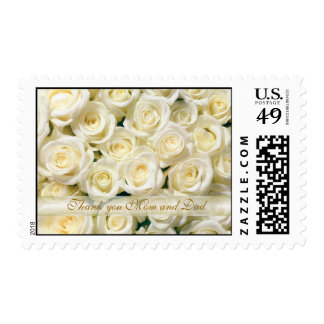White roses thank you Mom and Dad Postage
