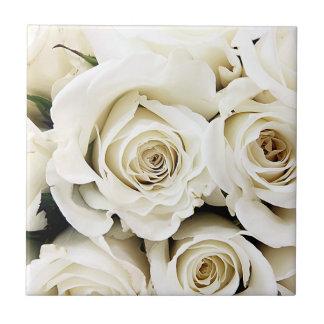 White Roses Tile
