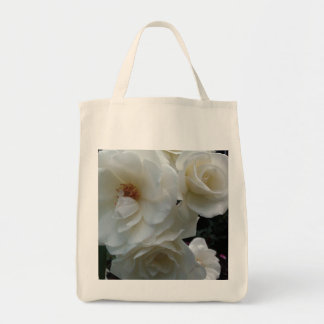 WHITE ROSES tote Grocery Tote Bag