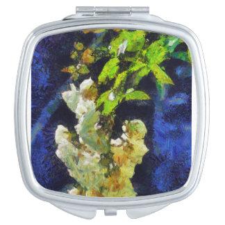 White Roses Vanity Mirror
