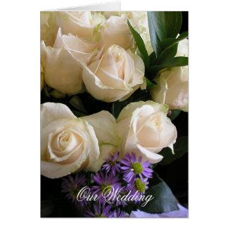 White Roses Wedding Invitation