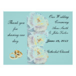 White roses Wedding Program Personalized Flyer