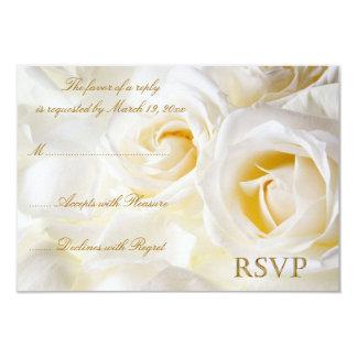 White Roses Wedding RSVP Card